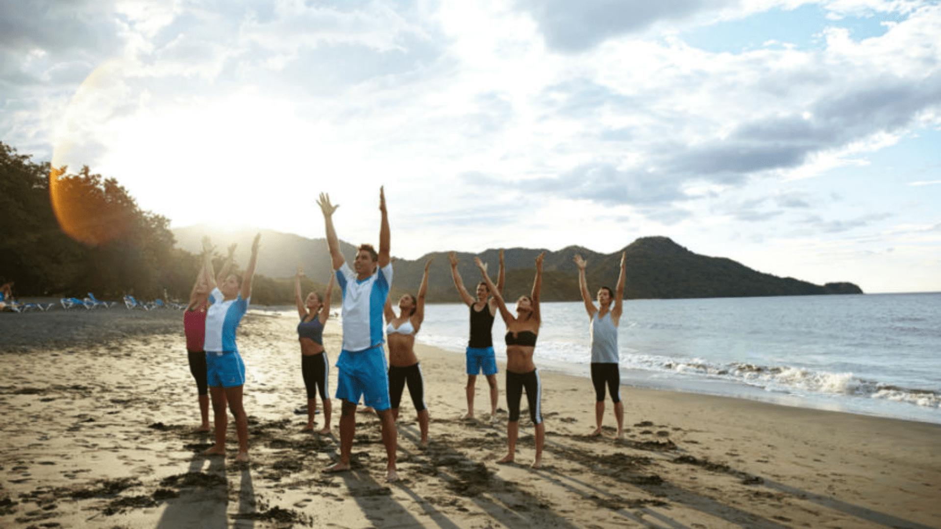 Sporto užsiėmimai paplūdimyje