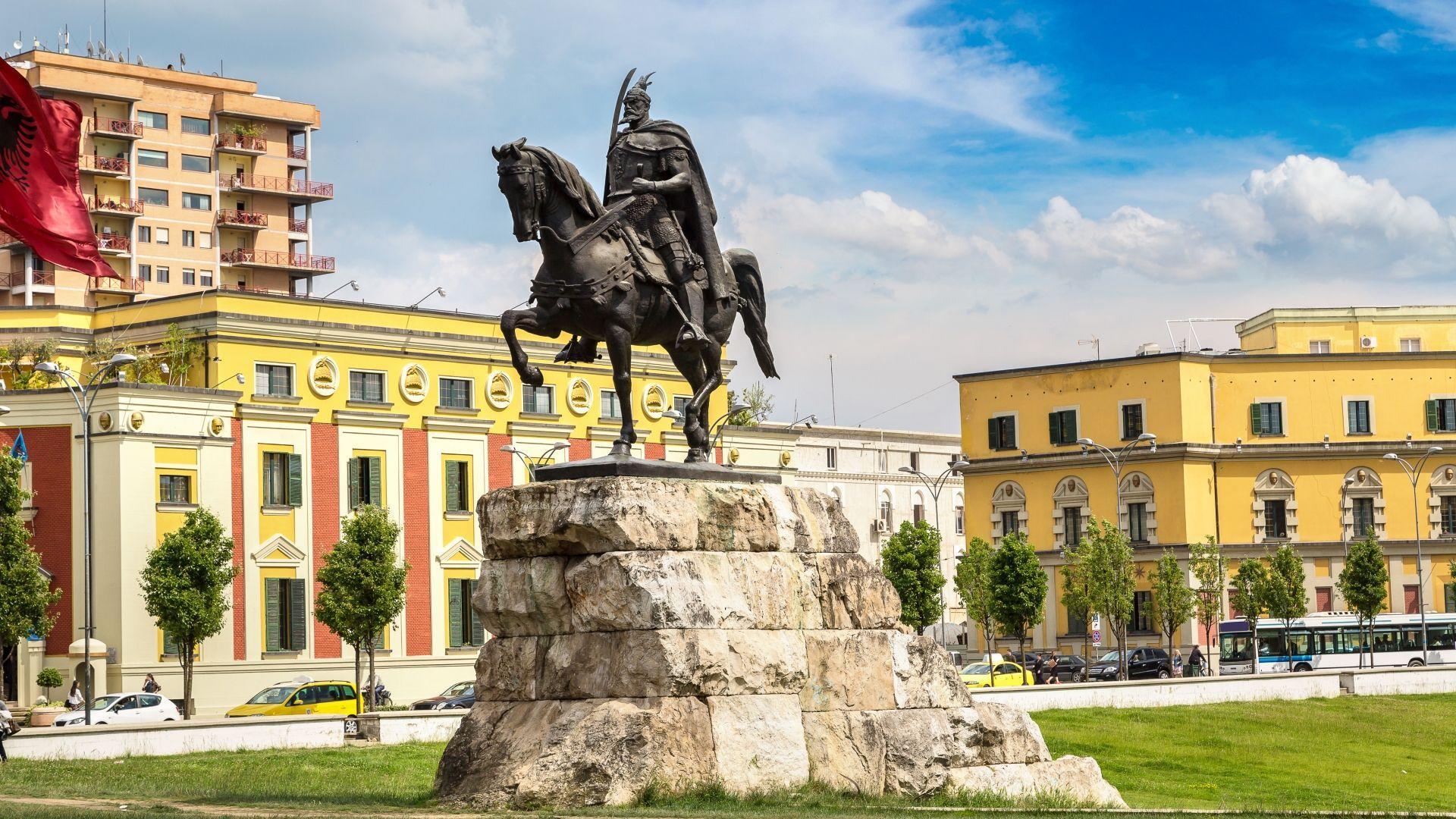 Skanderbego aikštė Tiranoje