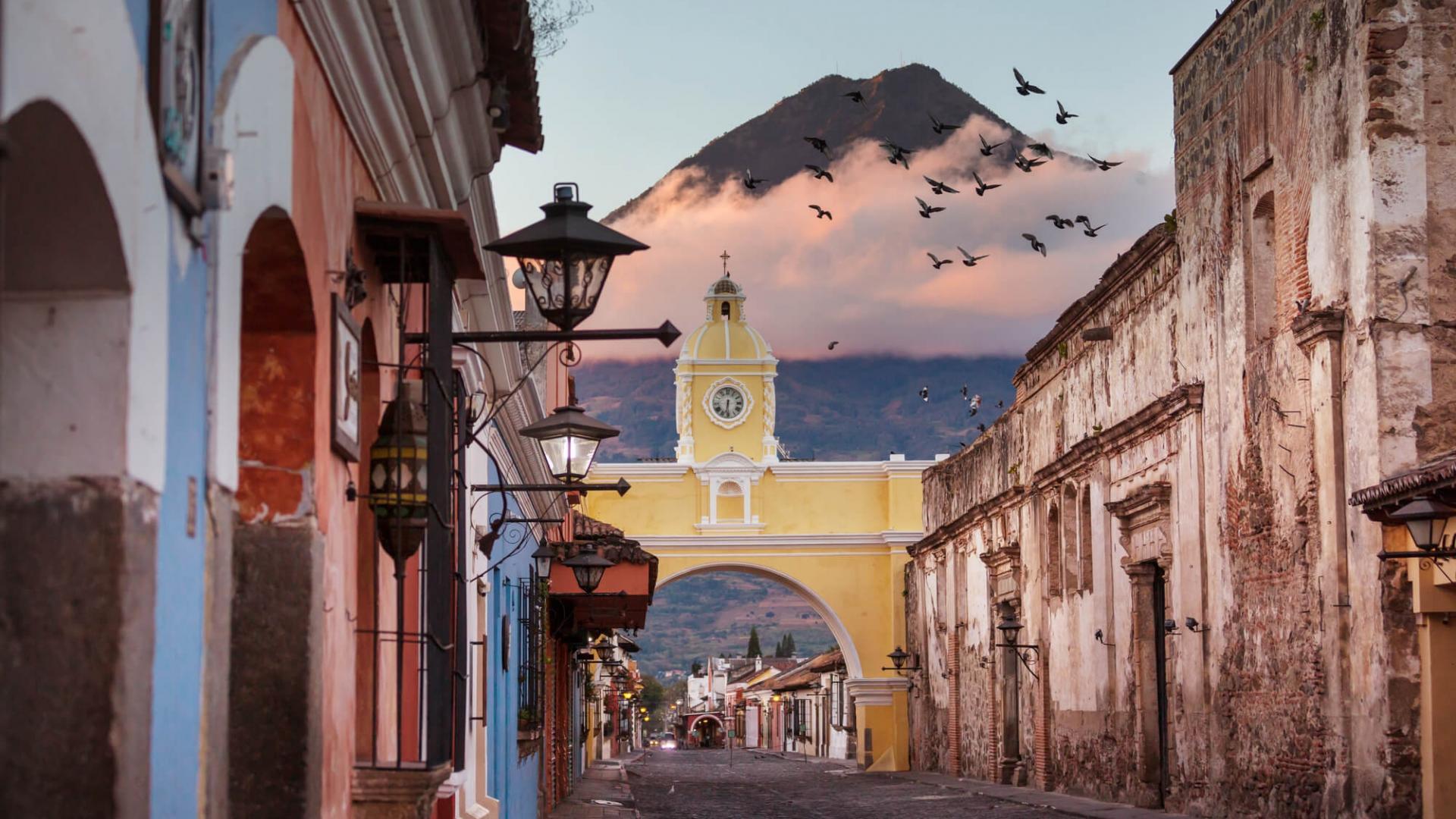 Išskirtiniai vaizdai Antigua miestelyje