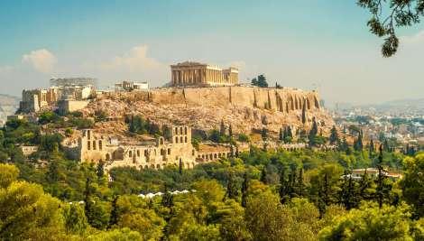 Graikiją. Atėnų akropolis
