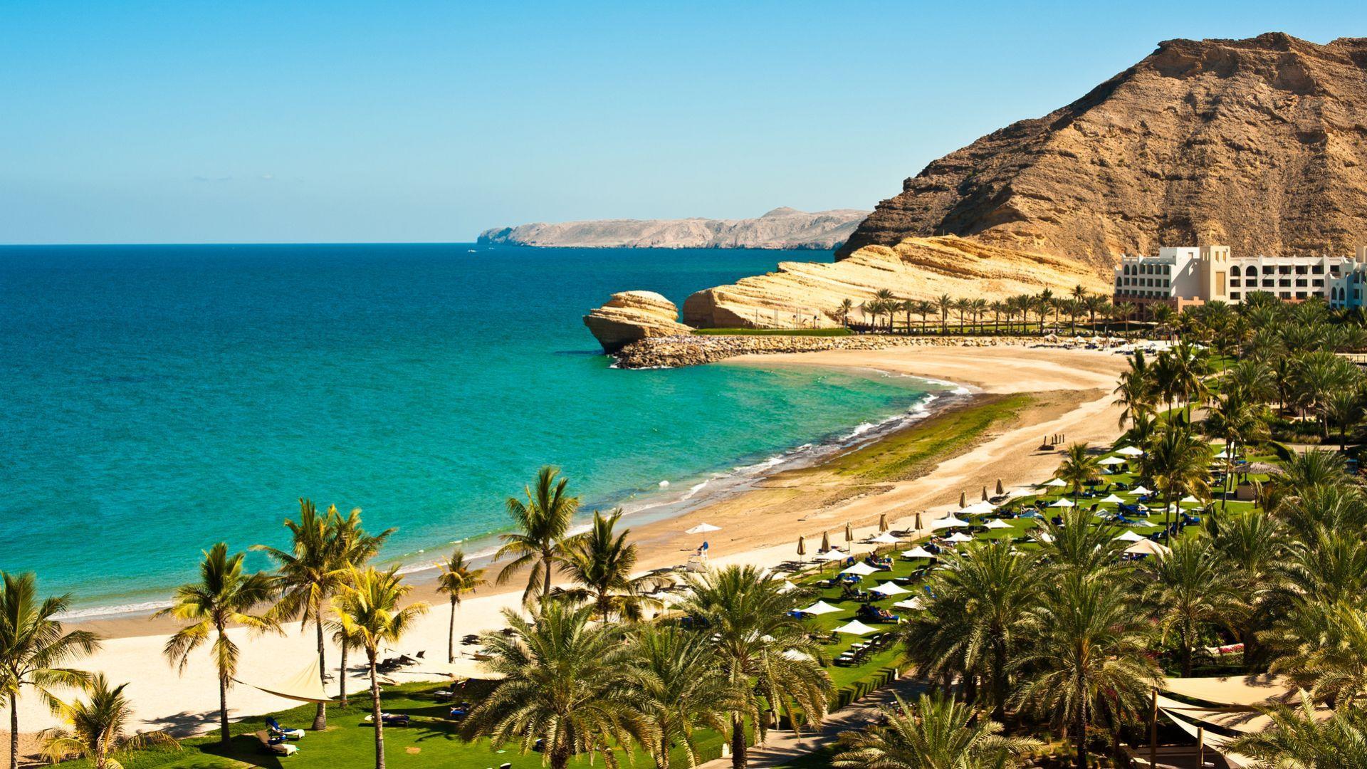 Žavinga Arabijos jūros pakrantė Omane