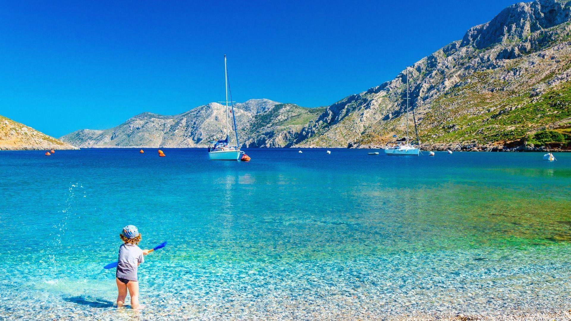 Uolinga pakrantė Korfu saloje
