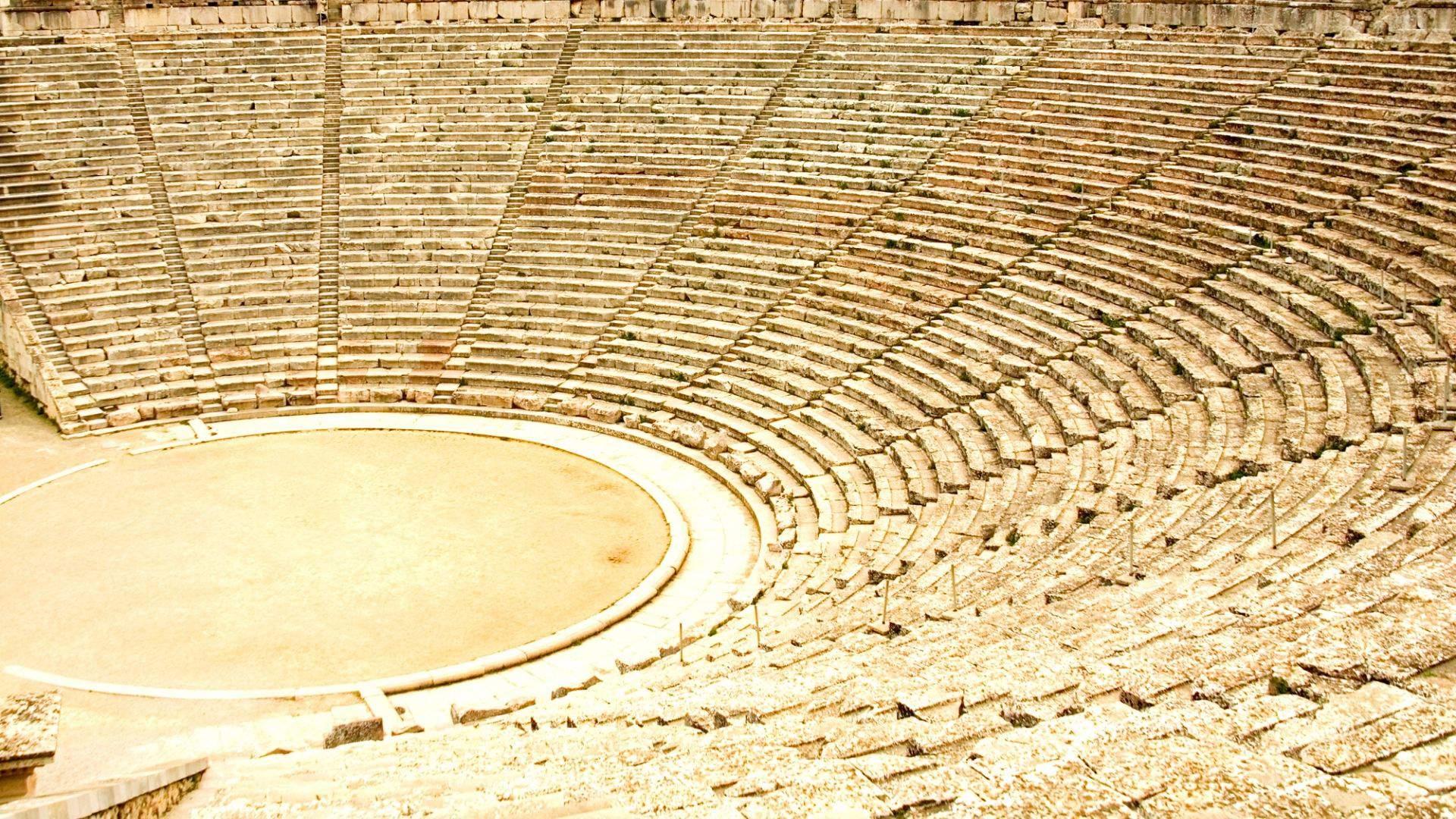 Epidauro amifteatras Peloponese - vienas geriausiai išsilaikiusių
