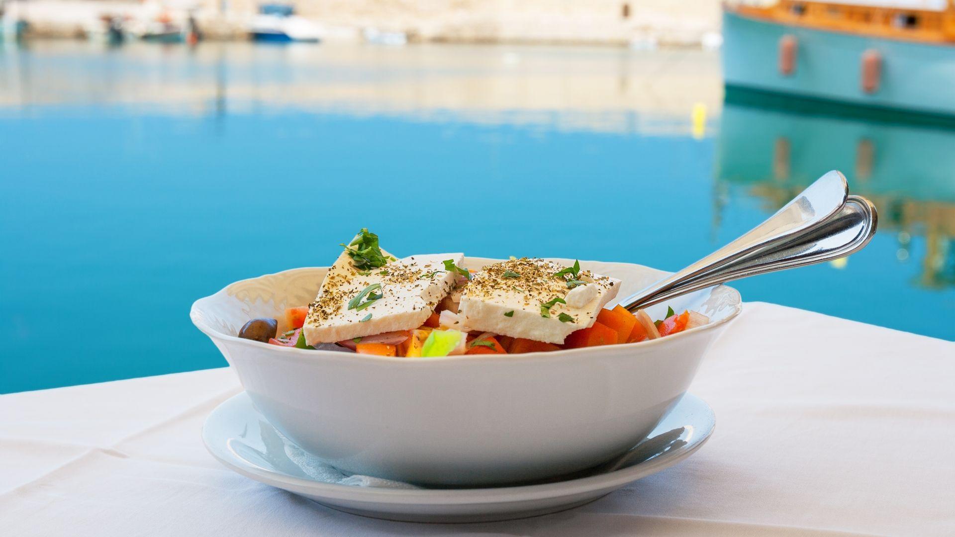 Tradicinės graikiškos salotos