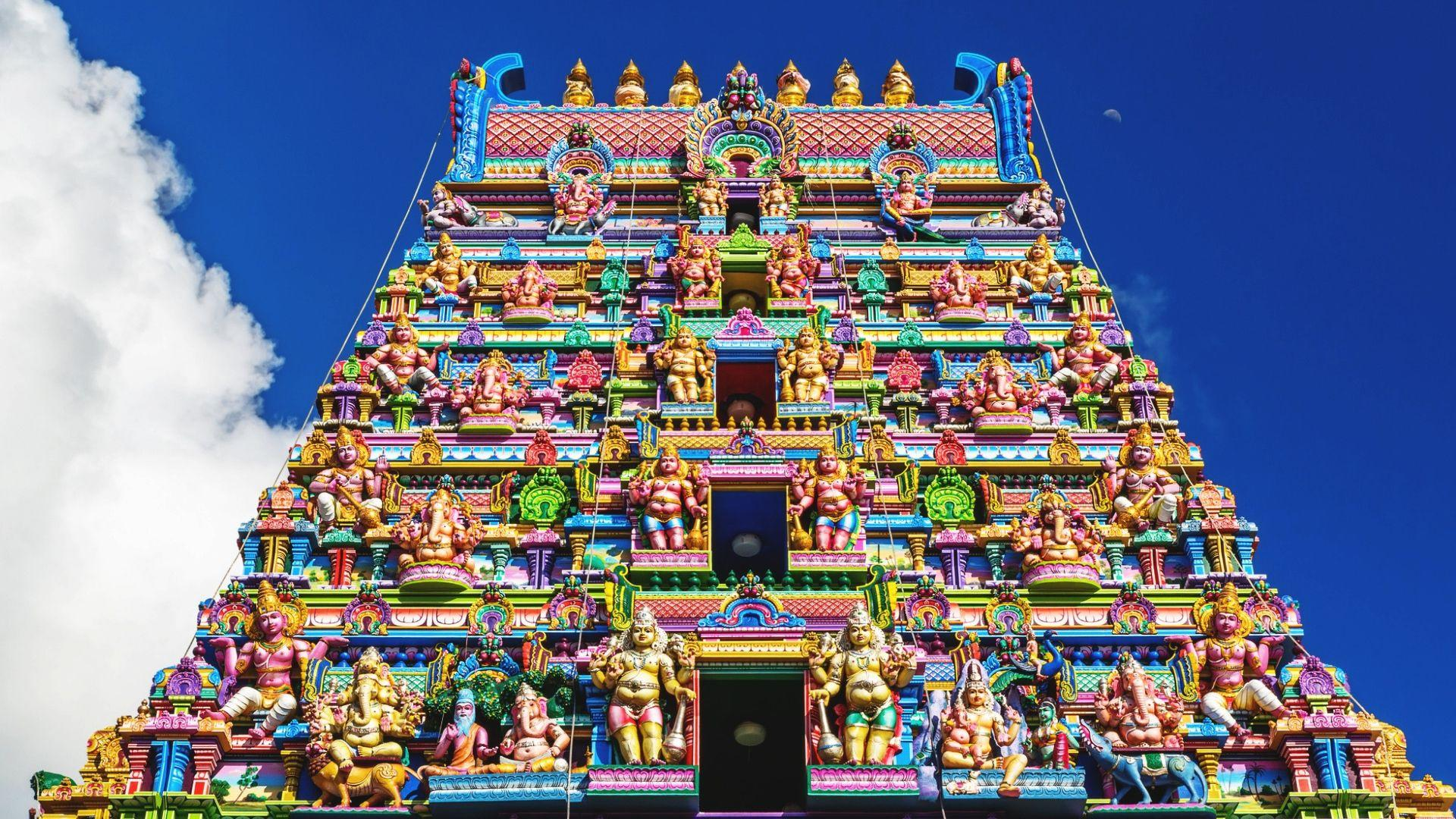 Hinduistų šventyklos fasadas, Viktorija
