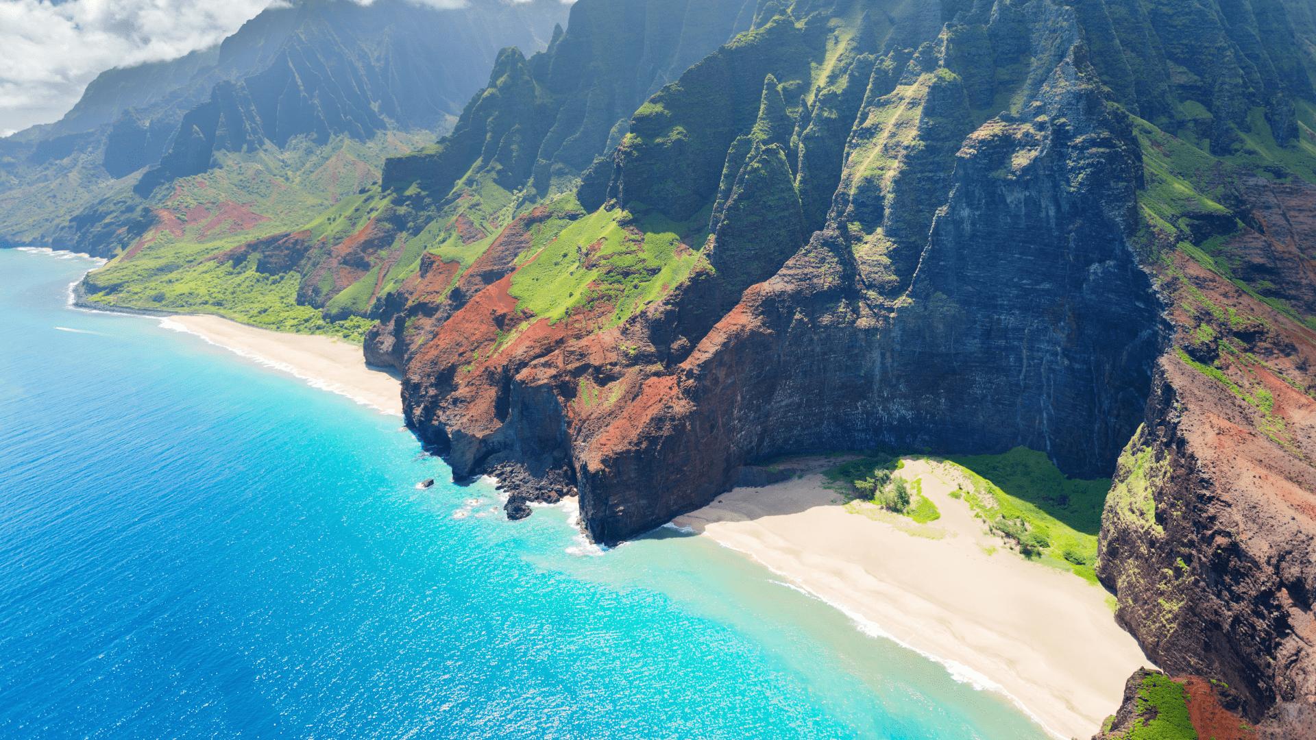Vulkaninės kilmės Kauai sala