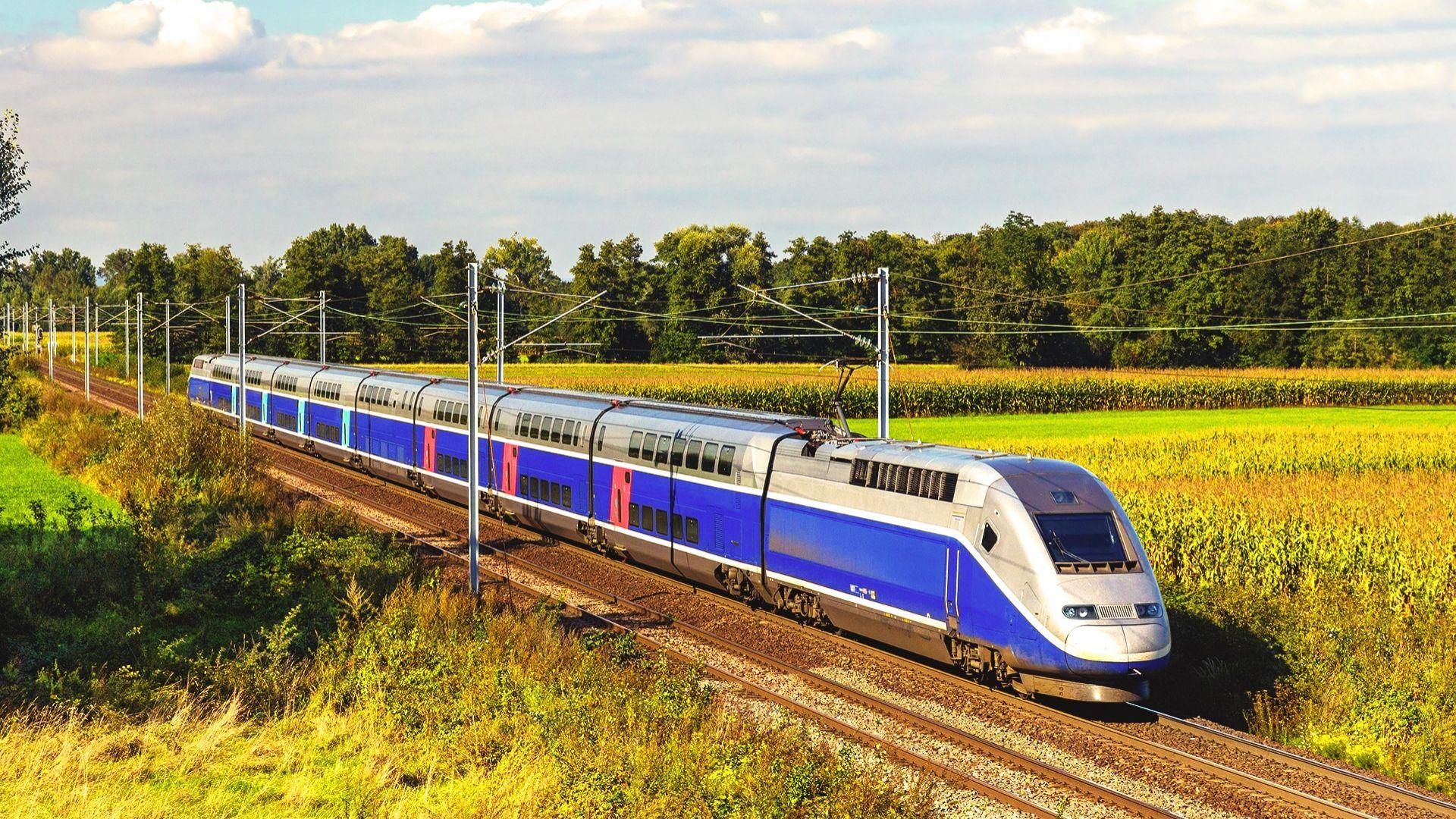 Keliaudami traukiniu galėsite pasigrožėti gamtos peizažais