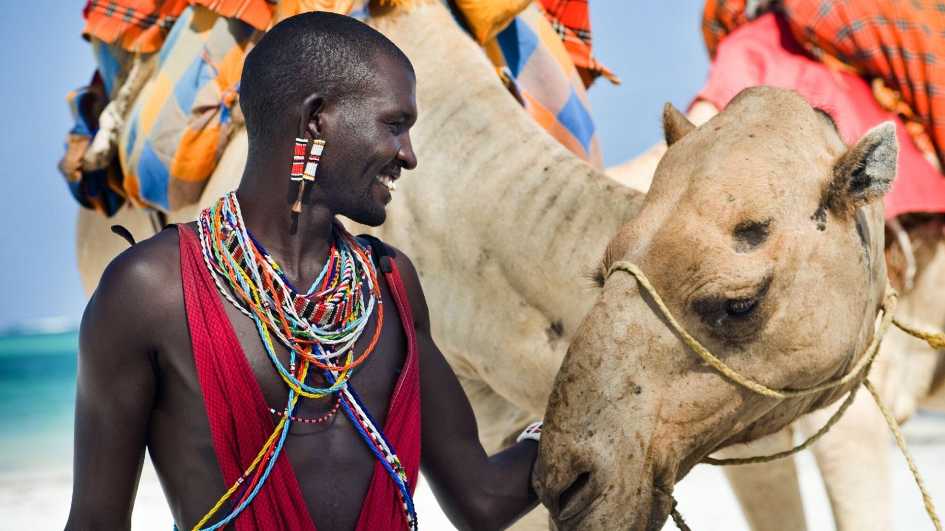 Klajojančios Masajų genties atstovas