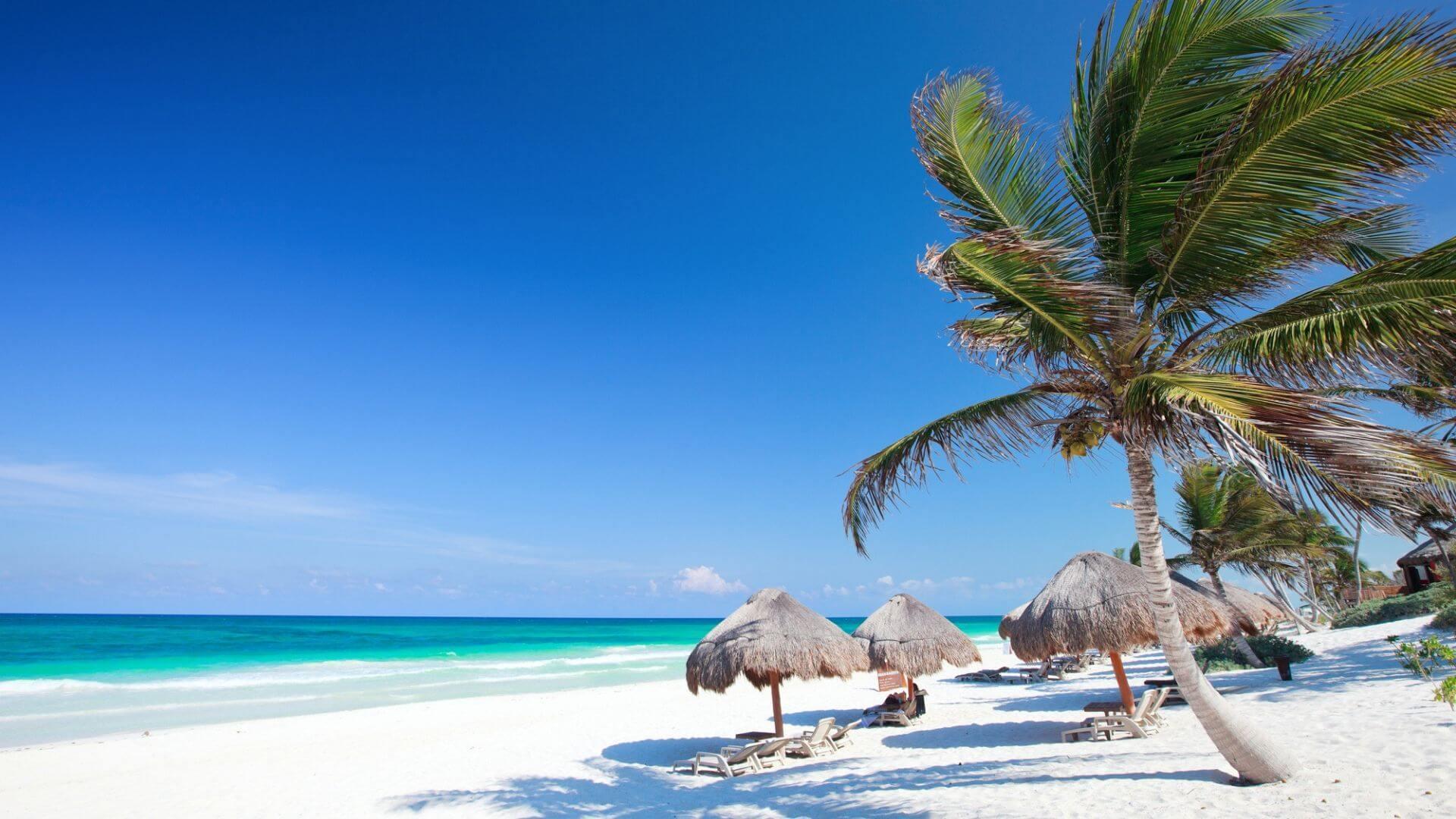 Mėgaukitės saule Playa de Carmen smėlio paplūdimiuose