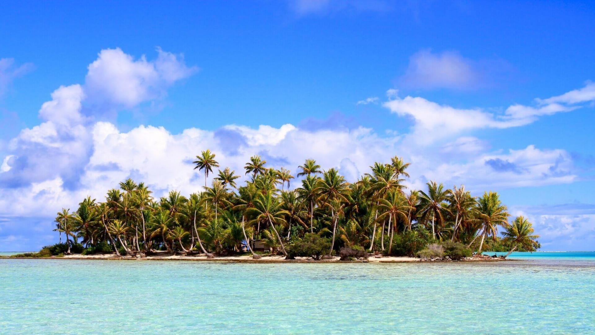 Nežemiški vaizdai Rangiroa atole