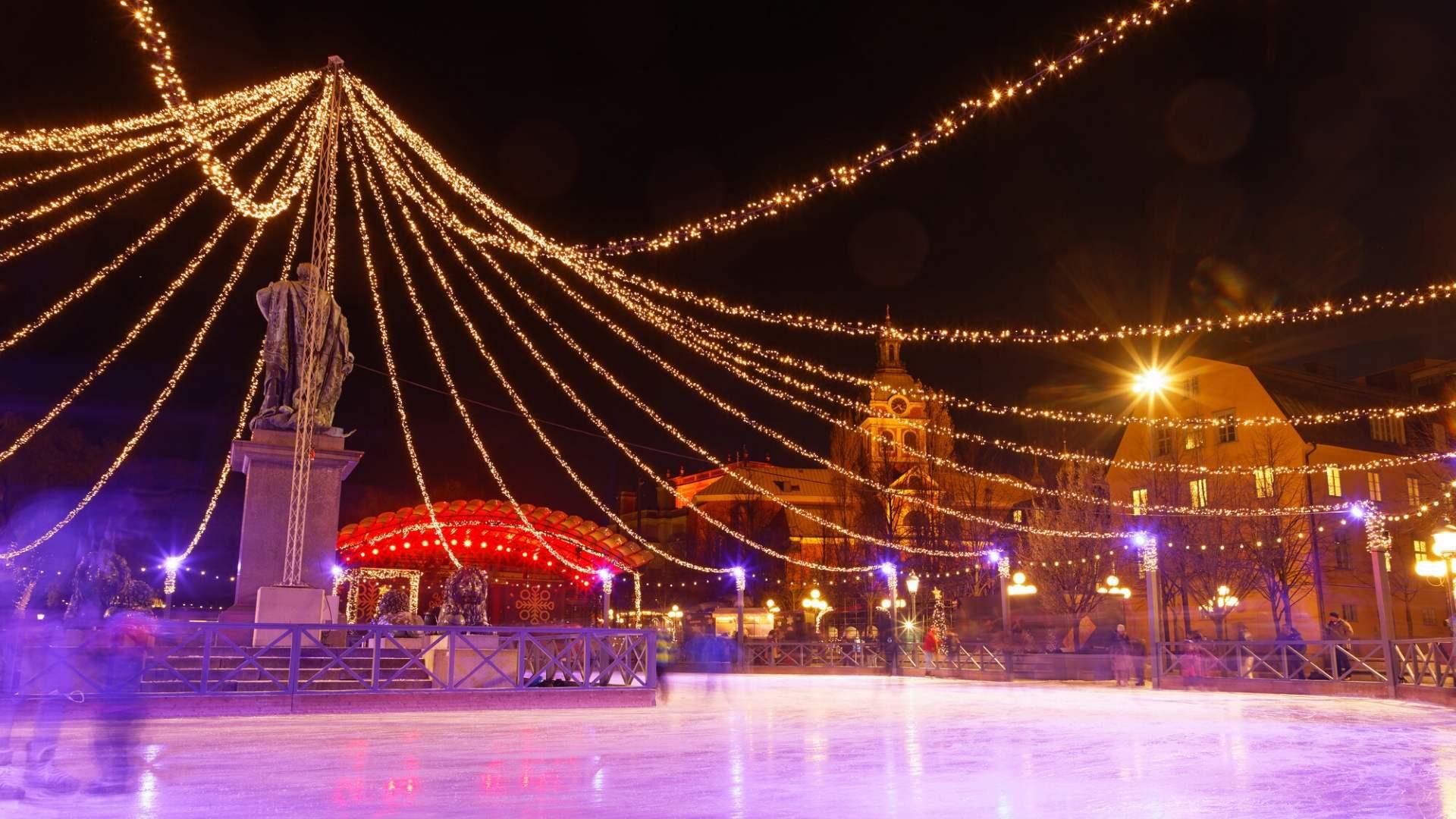 Nuostabi čiuožykla Stokholmo mieste