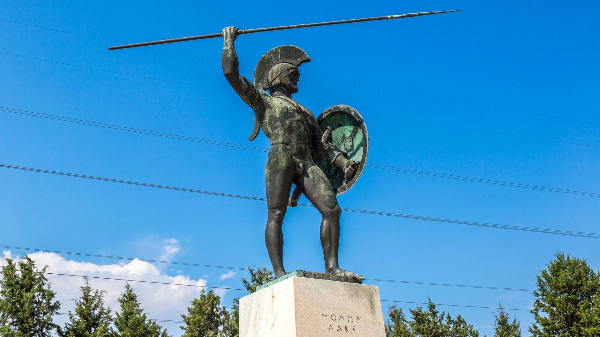 Paminklas Spartos karaliui Leonidui