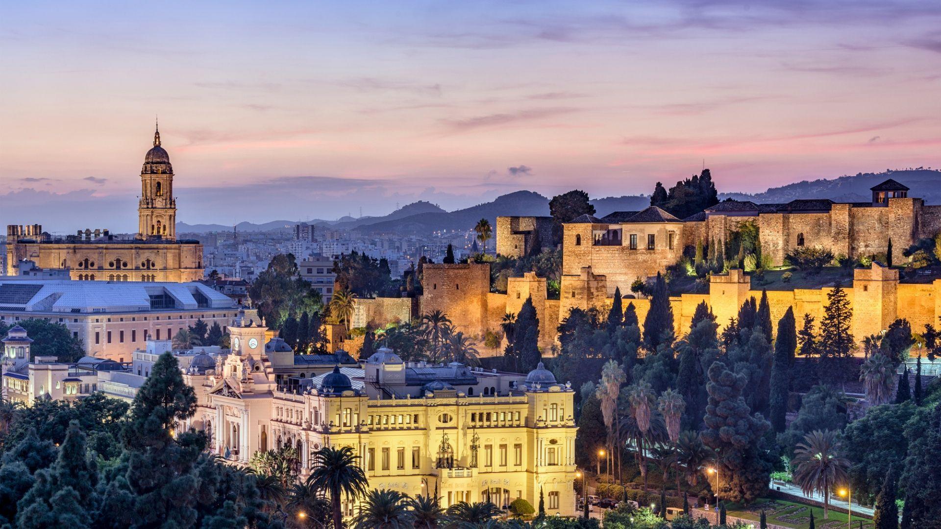 Panoraminiai Malagos vaizdai
