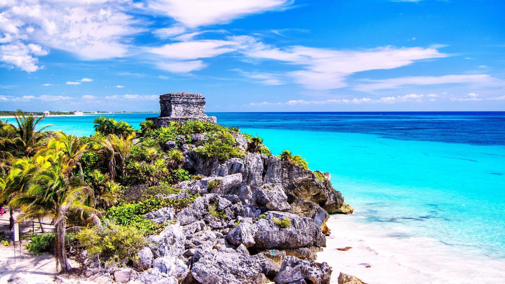Žydrieji Meksikos paplūdimiai