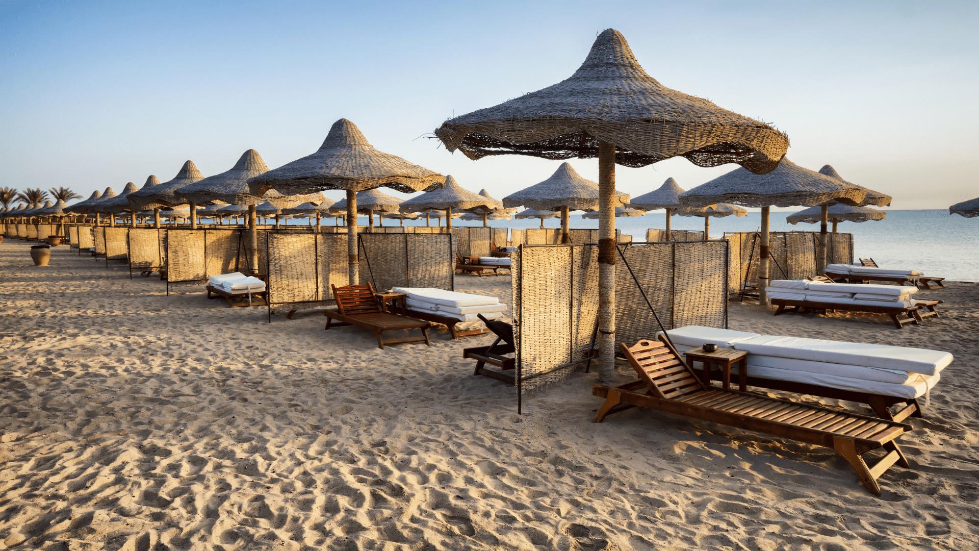 Paplūdimys šalia Raudonosios jūros