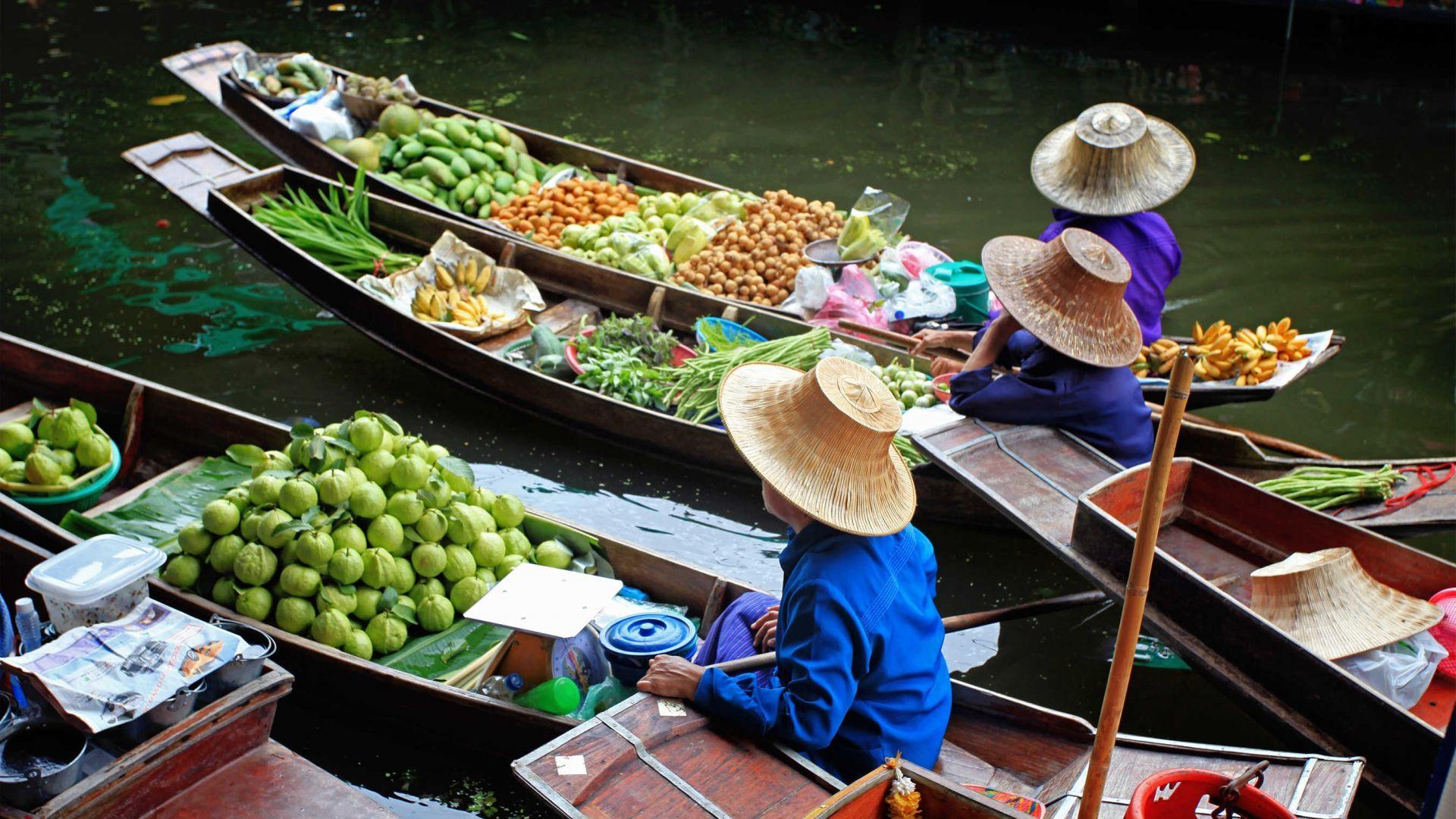 Tradicinis tailandietiškas turgus