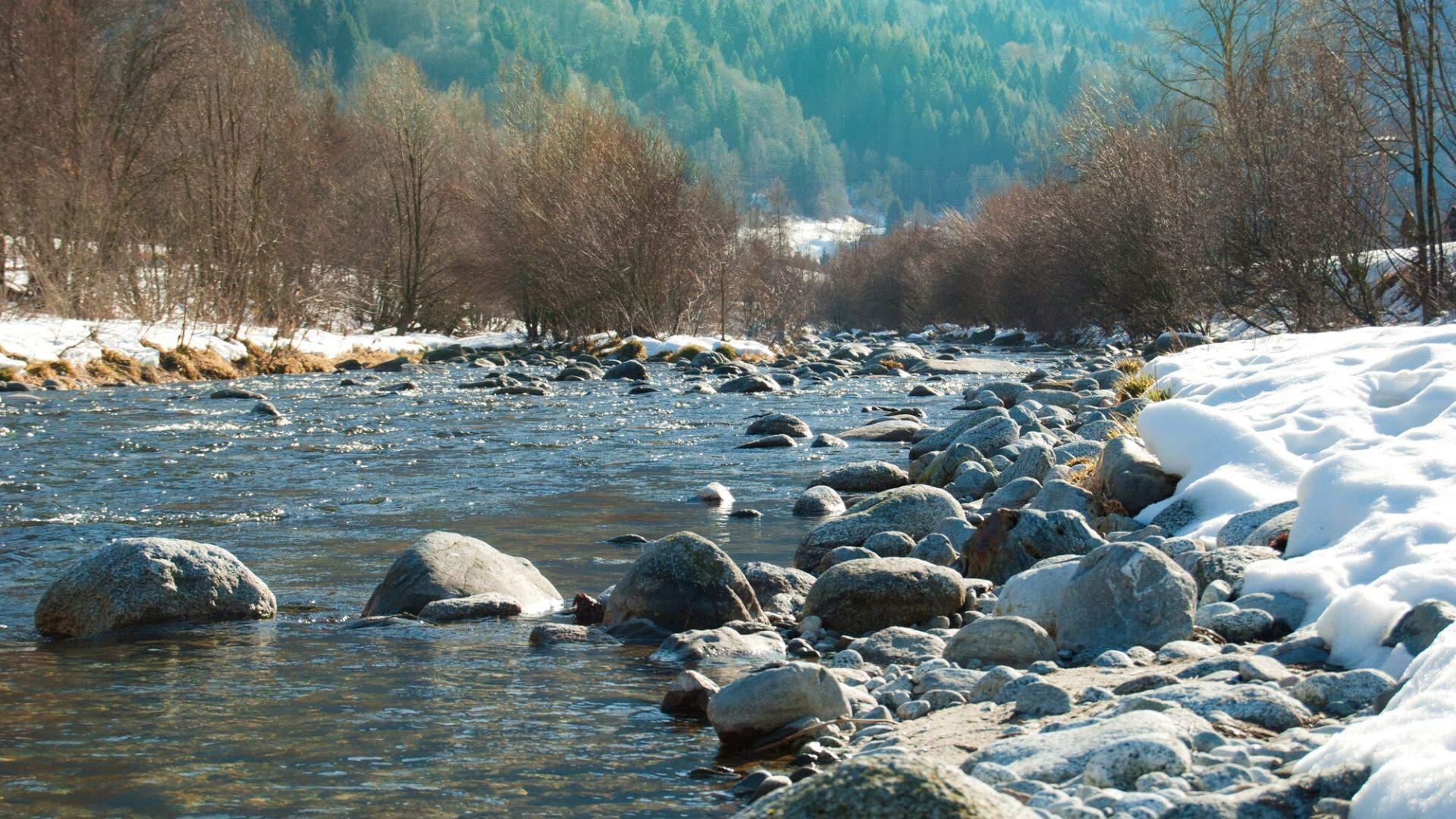 Sarca upė netoli Pinzolo miestelio