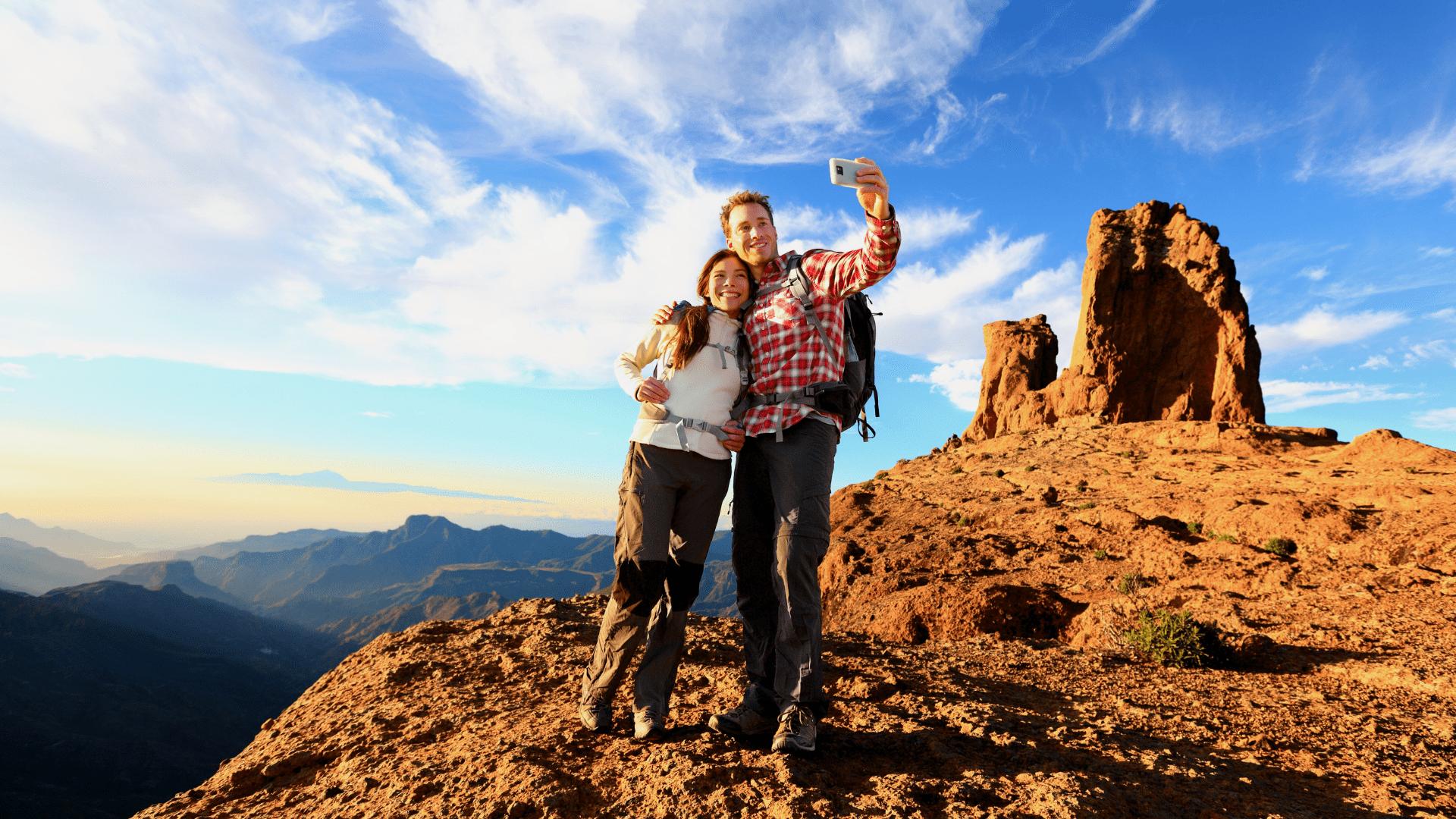 Roque Nublo kalnas - gausiai lankomas keliautojų