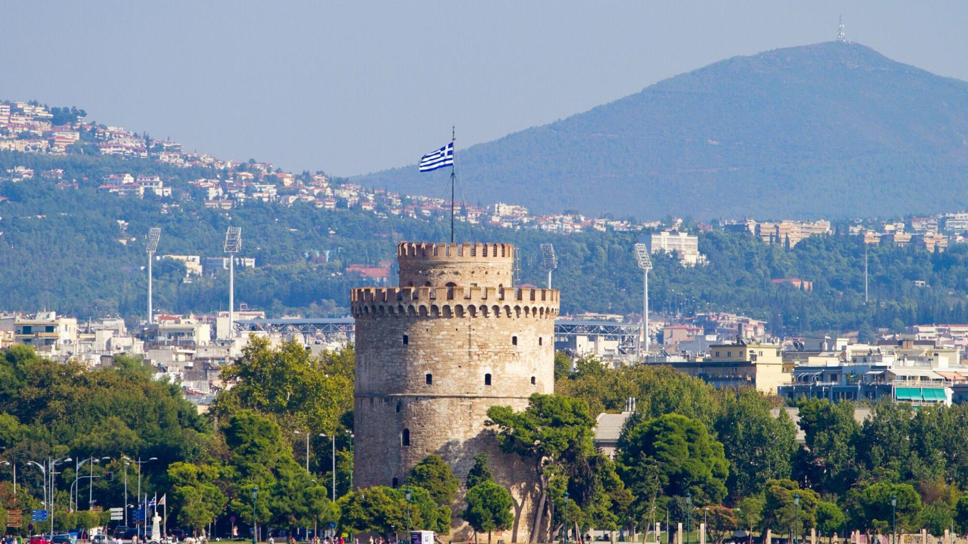 Salonikų architektūros simbolis - pakrantėje stovintis Baltasis bokštas