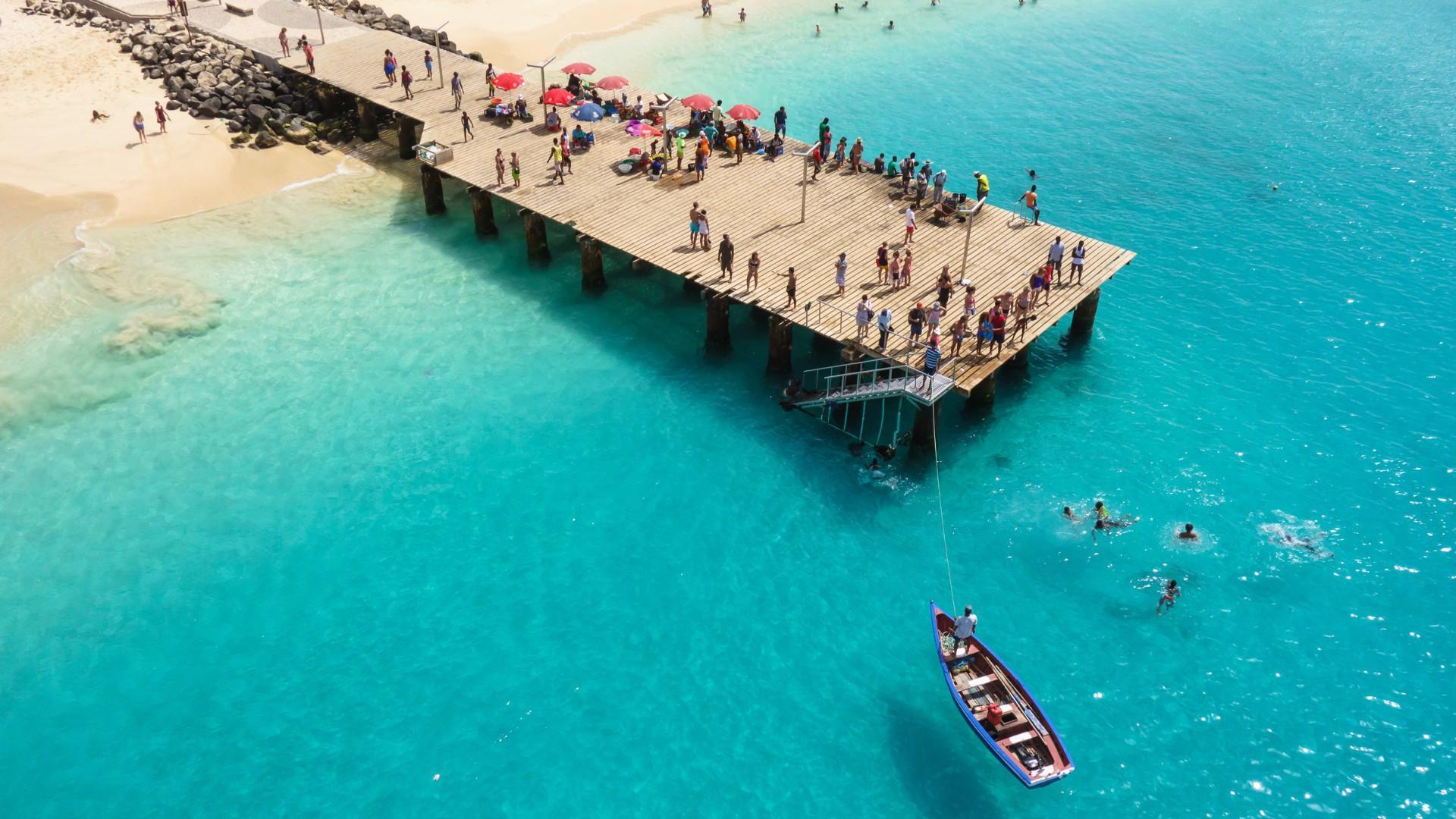 Santa Maria paplūdimys Sal saloje