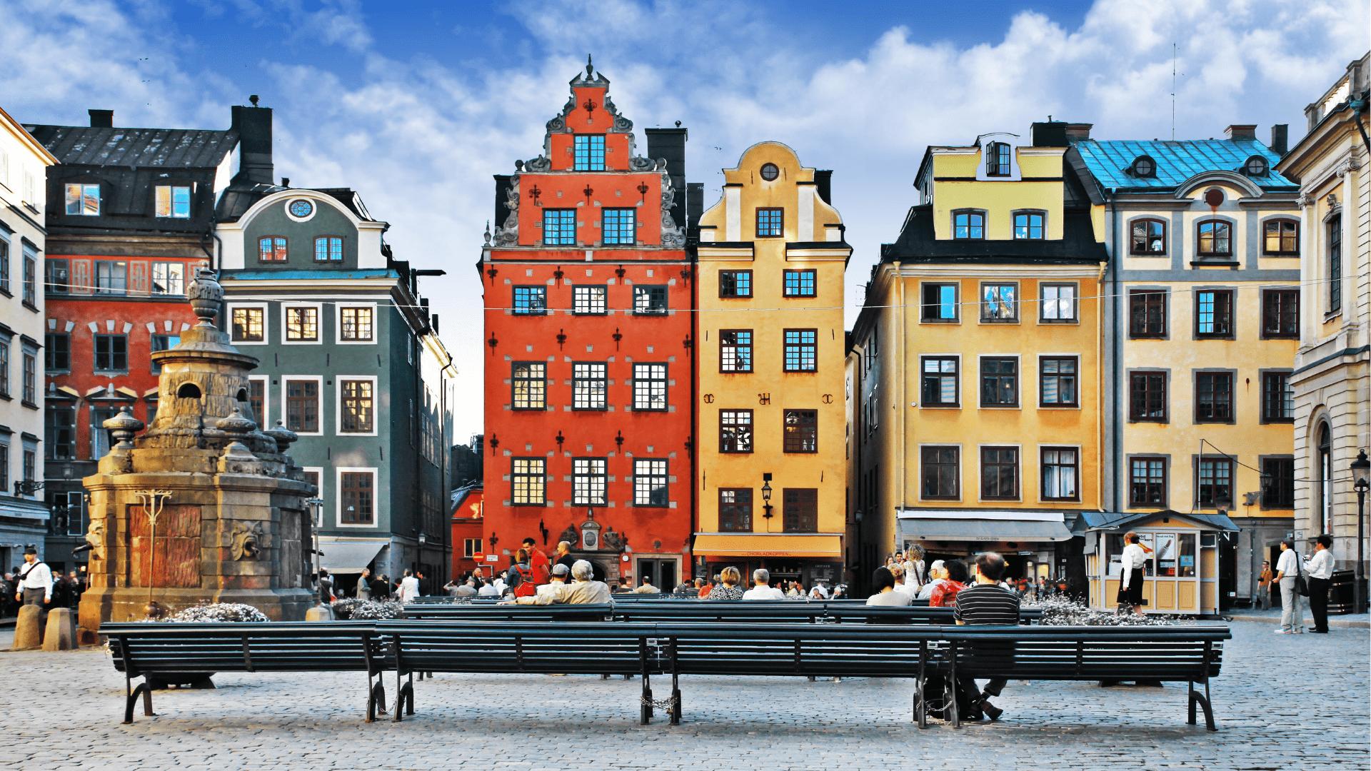 Spalvotasis Stokholmo senamiestis