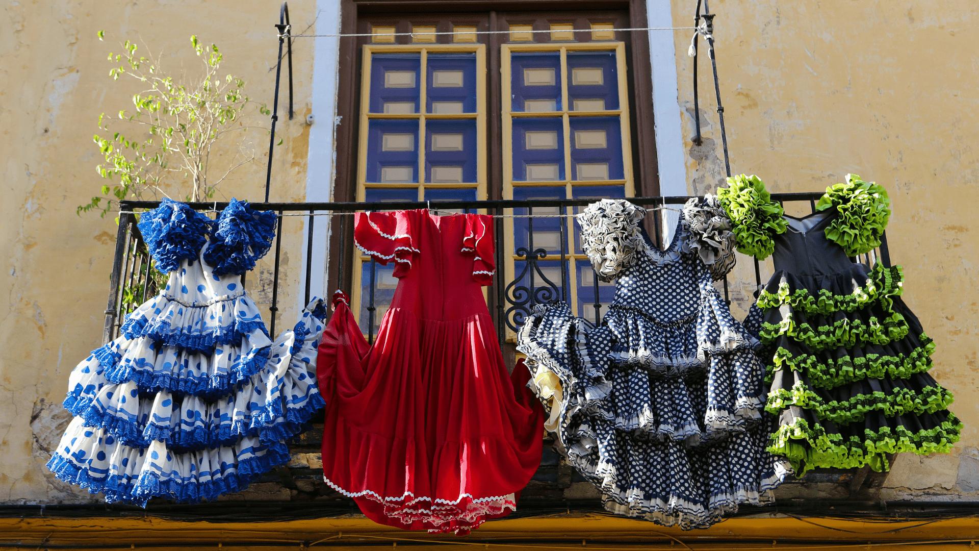 Tradicinės Flamenko suknelės Malagoje