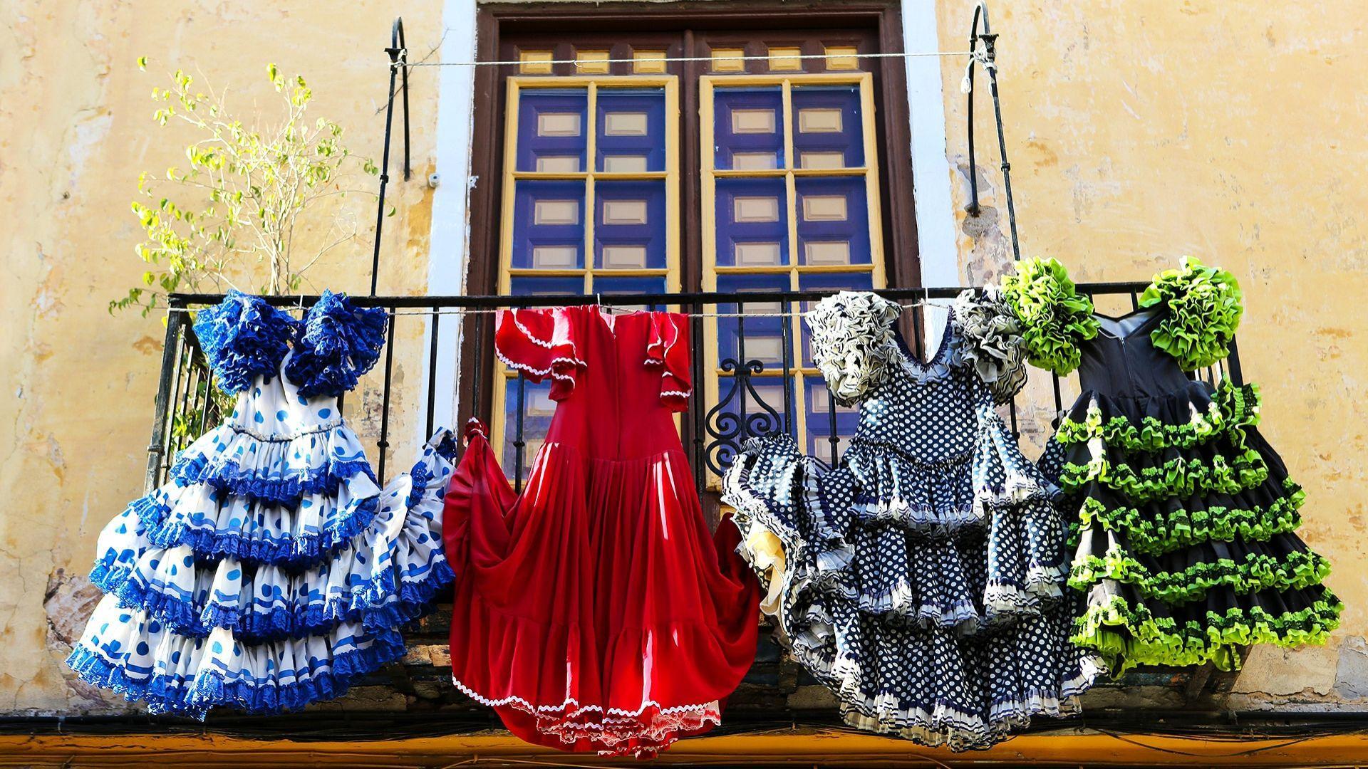 Tradicinės flamenko suknelės