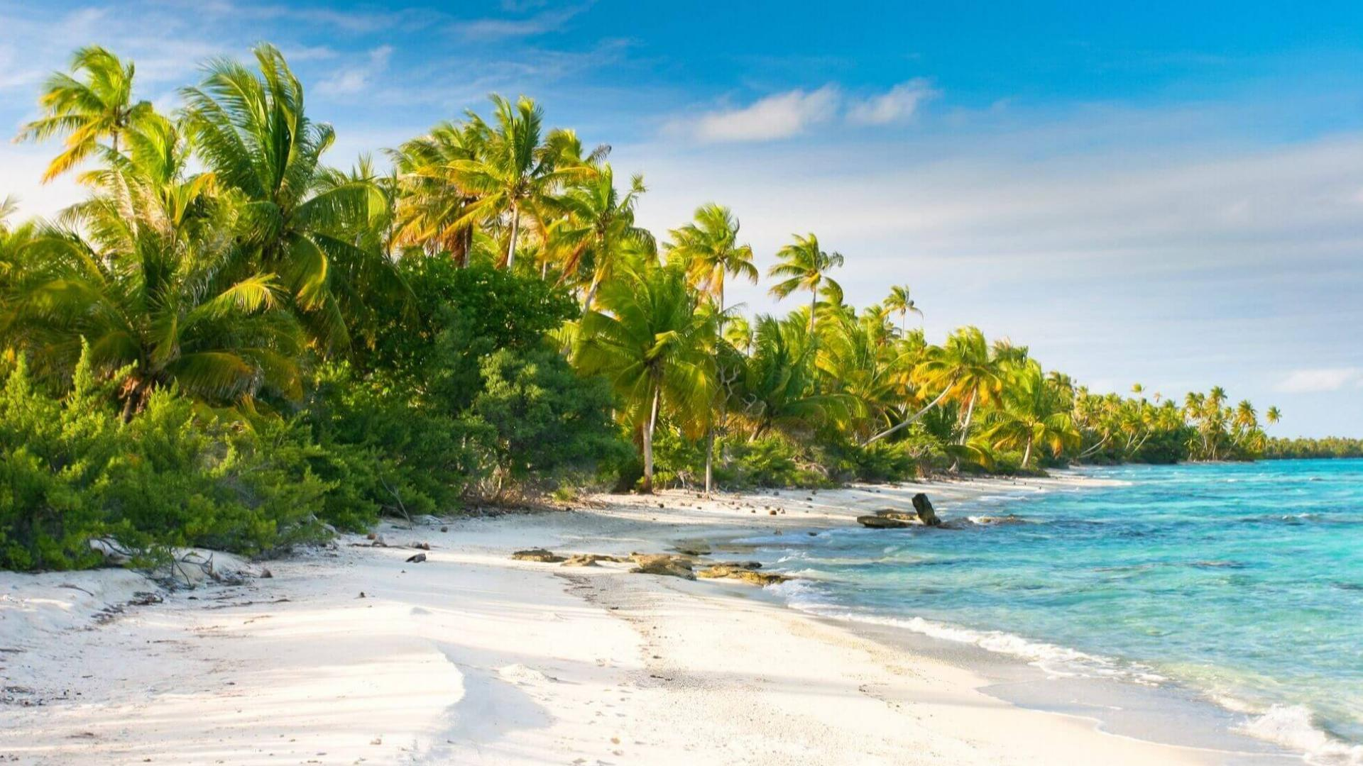 Tropiniai paplūdimiai Fakarava atole