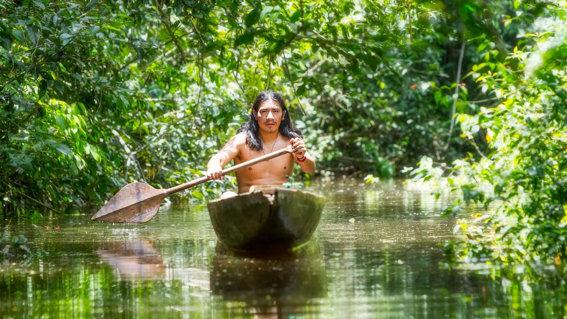 Vietinis Amazonės gyventojas