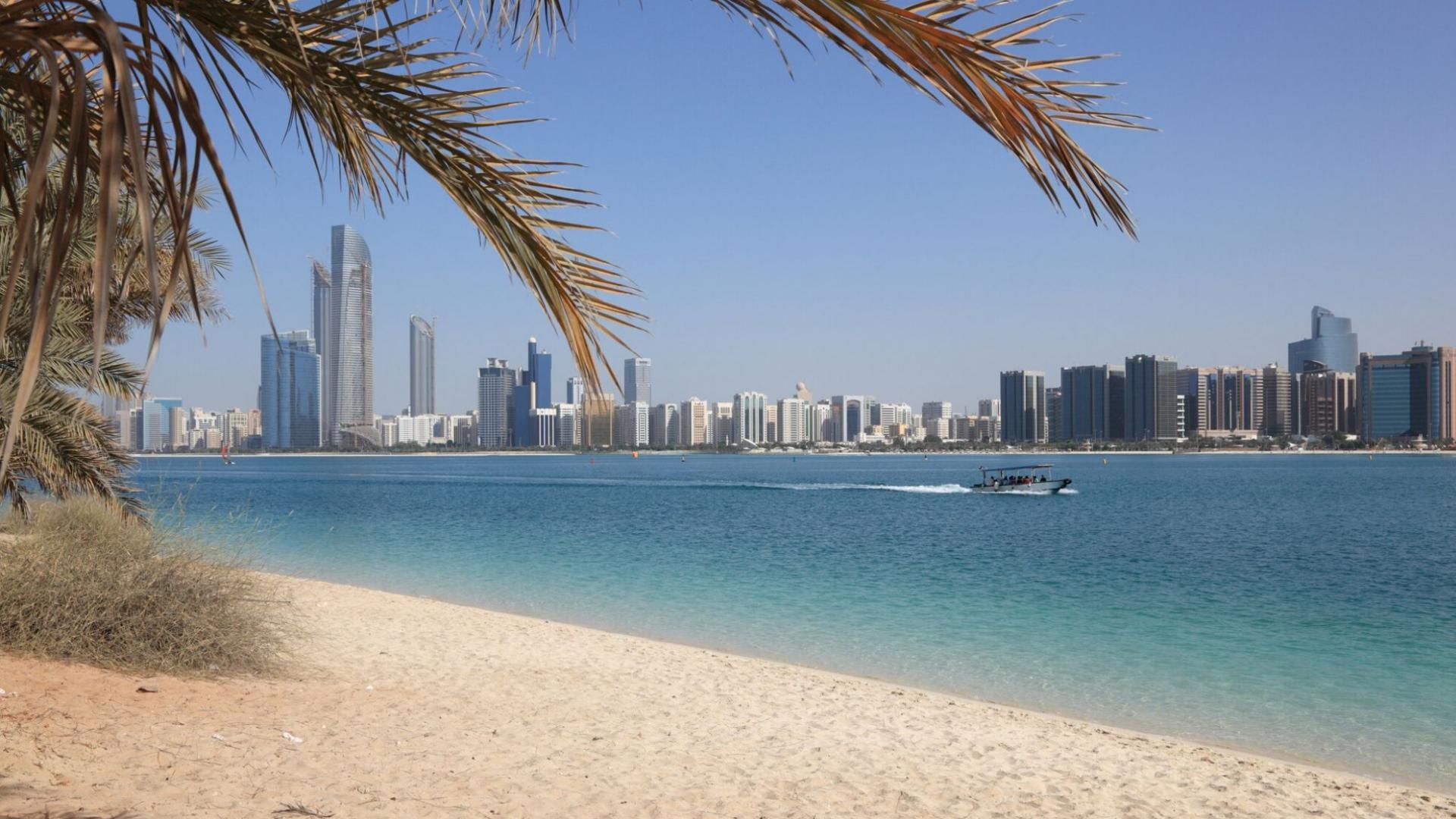 Žavus Corniche paplūdimys Abu Dabyje