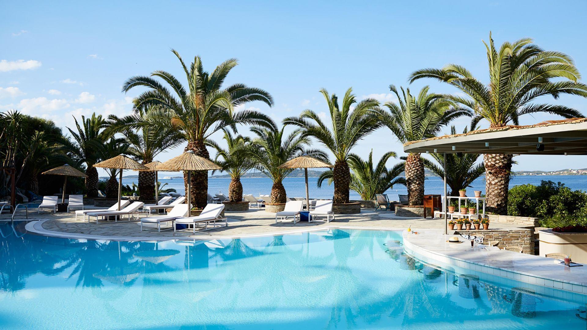 Eagles Palace viešbučio įspūdingi baseinai
