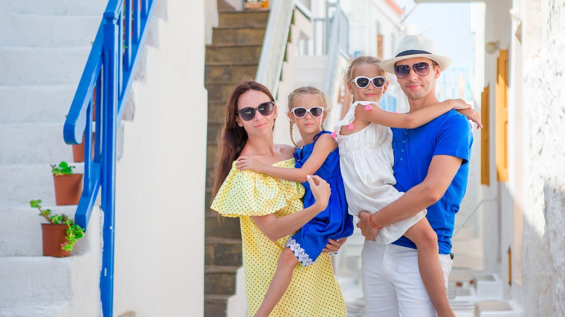 Šeimos akimirkos Graikijoje