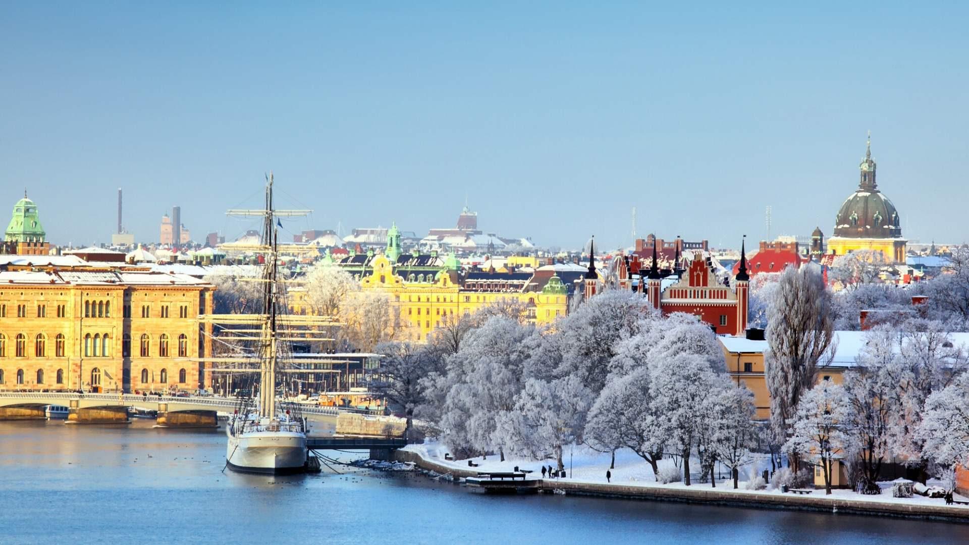 Žiemos metu Stokholmas atsiskleidžia kitomis spalvomis